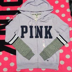 VS PINK Colorblock Full Zip Hoodie